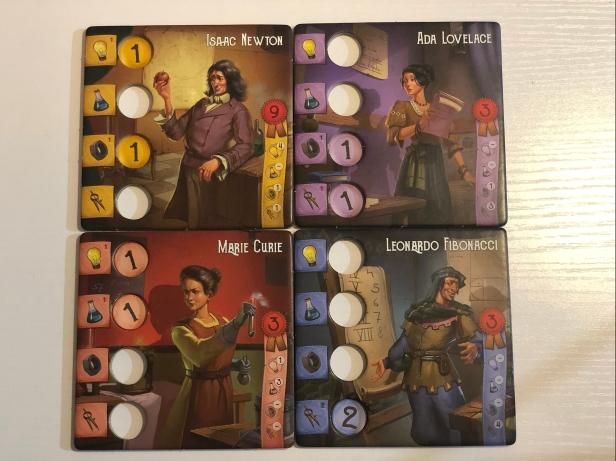 Ada Lovelace, Marie Curie, Isaac Newton, Leonardo Fibonacci