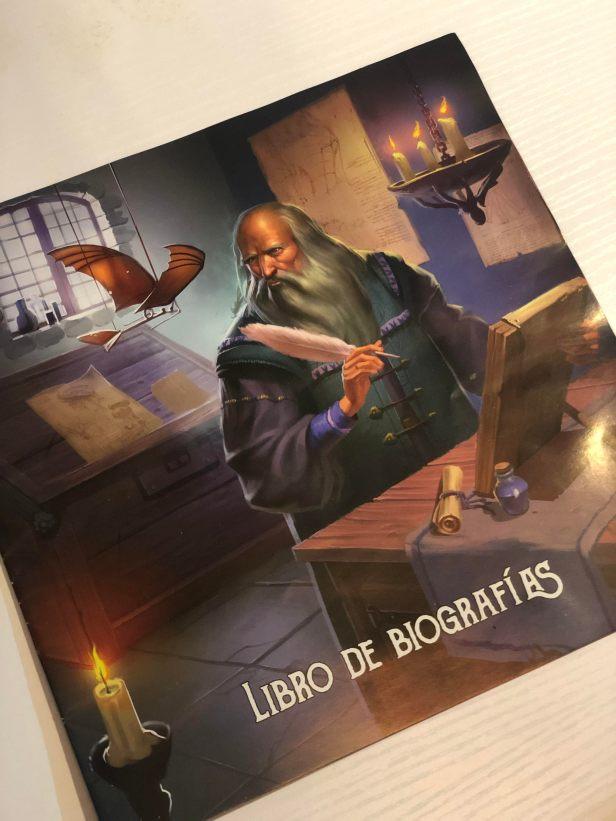 Inventores legendarios, libreto biografías