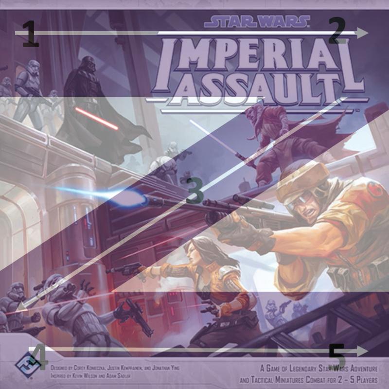 Diseño en Z juego de mesa Imperial Assault